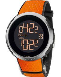 Gucci I Xxl Steel and Rubber Digital Watch Black - Lyst