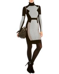 Karen Millen Colorblock Skinny Knit Dress - Lyst