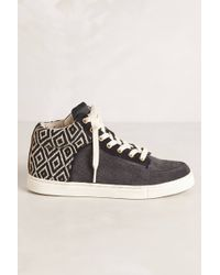 Kim & Zozi Woven High Top Sneakers - Lyst