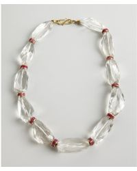Amrapali - Ruby and Large Crystal Necklace - Lyst