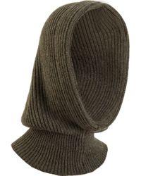Barneys New York Ribbed Knit Hood - Lyst