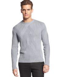 Calvin Klein Crew Neck Textured Sweater - Lyst