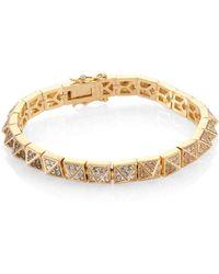 Eddie Borgo Ombre Pave Crystal Pyramid Stud Bracelet - Metallic