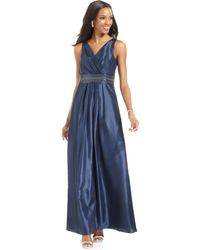 JS Boutique Sleeveless Beaded Gown - Lyst