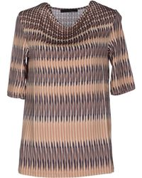 Les Copains Short Sleeve T-Shirt - Lyst
