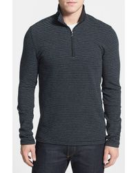 Michael Kors Half Zip Waffle Knit Pullover - Lyst