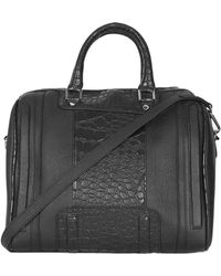 Topshop Crocembossed Faux Leather Bowling Bag - Lyst