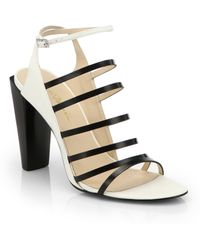 3.1 Phillip Lim Ella Canvas Leather Bicolor Sandals - Lyst