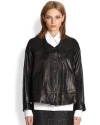 Proenza Schouler Leather Moto Jacket - Black