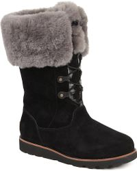 Ugg Barbarin Suede Boots Black - Lyst