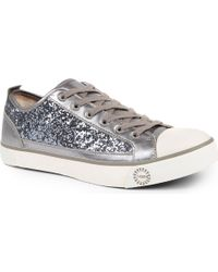 Ugg Evera Glitter Trainers Silver - Lyst