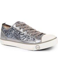 Ugg Evera Glitter Trainers Silver - Lyst