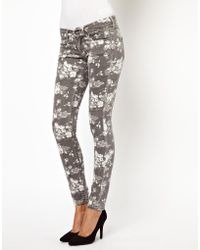 Asos Pepe Jeans Floral Skinny Jeans - Lyst