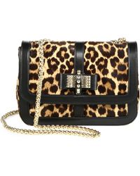 Christian Louboutin Sweet Charity Dyed Calf Hair Small Shoulder Bag - Lyst