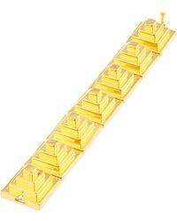 Eddie Borgo Block Pyramid Bracelet - Metallic