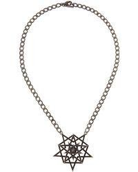 Eddie Borgo - Pave Pentagram Necklace - Lyst