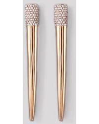 Eddie Borgo Pave Crystal Spike Earrings - Metallic