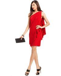 Js Boutique One-Shoulder Draped Dress  - Lyst