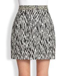 Proenza Schouler Zigzag Jacquard Mini Skirt - Lyst