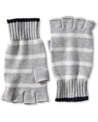 Banana Republic Striped Fingerless Glove  Gray Heather - Lyst
