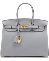 Heritage Auctions Special Collection 35cm Blue Lin Togo Leather Birkin - Lyst