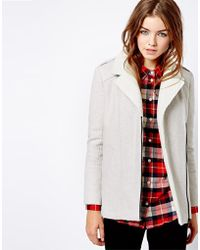 NW3 by Hobbs | New Look Faux Suede and Fur Bonded Biker Coat | Lyst