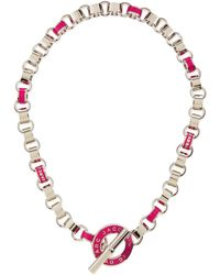 Marc By Marc Jacobs - Enamel Toggle Necklace Pink - Lyst