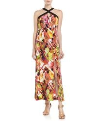 Marc New York By Andrew Marc Printed Halter Maxi Dress Multi 6 - Lyst