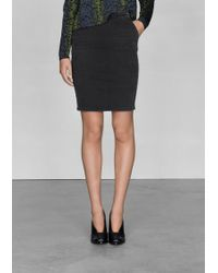 & Other Stories Straight Fit Skirt - Black