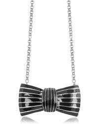 Sonia Rykiel | Elisabeth Black Enamel Bow Long Necklace | Lyst