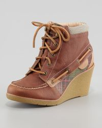 Sperry Top-Sider - Baily Laceup Wedge Boot - Lyst