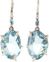 Alexis Bittar Fine | Midnight Marquise Topaz & Pave Diamond Earrings | Lyst