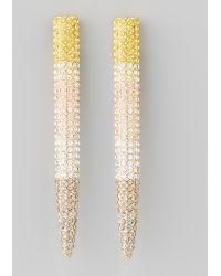 Eddie Borgo Pave Long Spike Earrings - Metallic