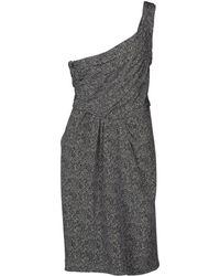 Fendi One Shoulder Wide Neckline Gray Short Dress - Lyst