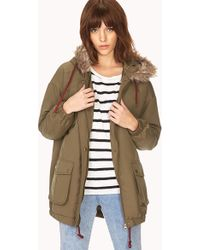 Forever 21 Must-have Parka - Green