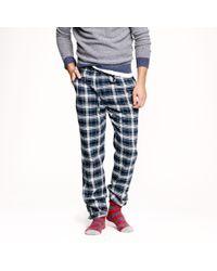 J.Crew - Slim Flannel Pyjama Pant in Navy Twilight Plaid - Lyst