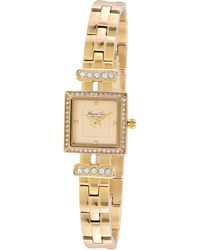 Kenneth Cole Women'S Gold Ion-Plated Stainless Steel Bracelet 20Mm Kc4962 - Lyst
