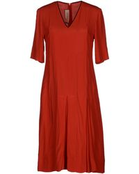 Marni Short Sleeve V-Neckline Red Short Dress - Lyst