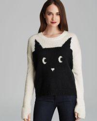 Pjk Patterson J. Kincaid Pullover Meow Cat - Black