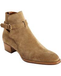 Saint Laurent Wyatt Ankle Boots - Lyst