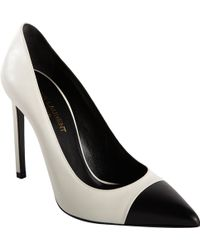 Saint Laurent Paris Cap Toe Pump 105 - Lyst