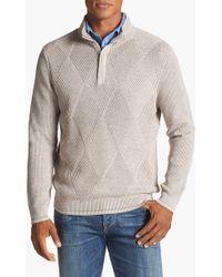 Tommy Bahama Marina Bay Pima Cotton Half Zip Sweater - Lyst