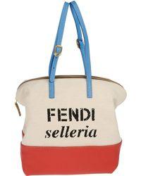 Fendi Medium Fabric Bag - Lyst