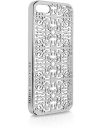 Juicy Couture Baroque Scroll Iphone 5 Case - Metallic