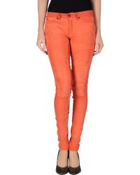 Superfine Leather Trousers - Lyst
