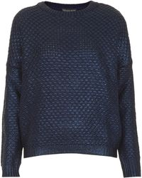 Topshop Petite Knitted Foil Textured Jumper - Lyst