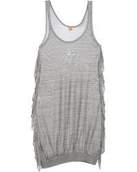 BOSS Orange Short Dress - Lyst