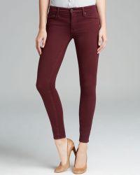 Genetic Denim Jeans Shya Skinny in Bordeaux - Red