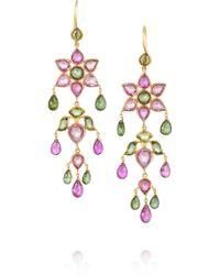 Munnu - Flower 22karat Gold Tourmaline Earrings - Lyst