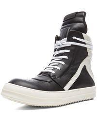 Rick Owens 'Geobasket' Hi-Top Sneakers - Lyst